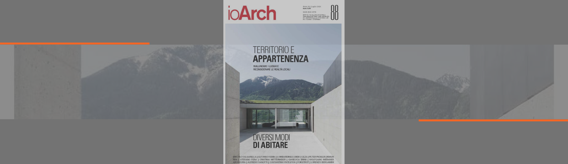 PUBLICATION: ioARCH MAGAZINE – JULY 2020